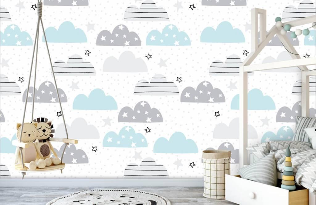 Baby Tapete - Gezeichnete Wolken - Babyzimmer 4