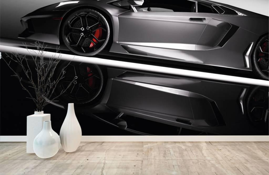 Verkehrsmittel tapete - Grauer Lamborghini - Jugendzimmer 1
