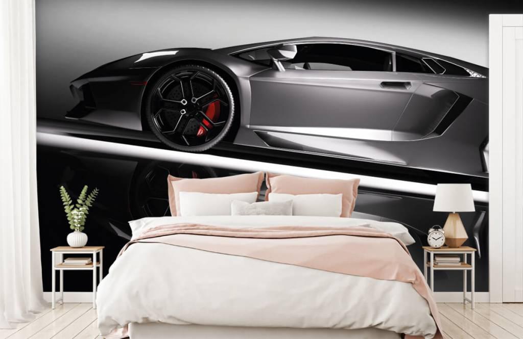 Verkehrsmittel tapete - Grauer Lamborghini - Jugendzimmer 3