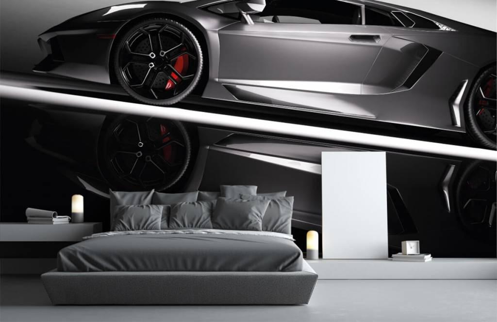 Verkehrsmittel tapete - Grauer Lamborghini - Jugendzimmer 4