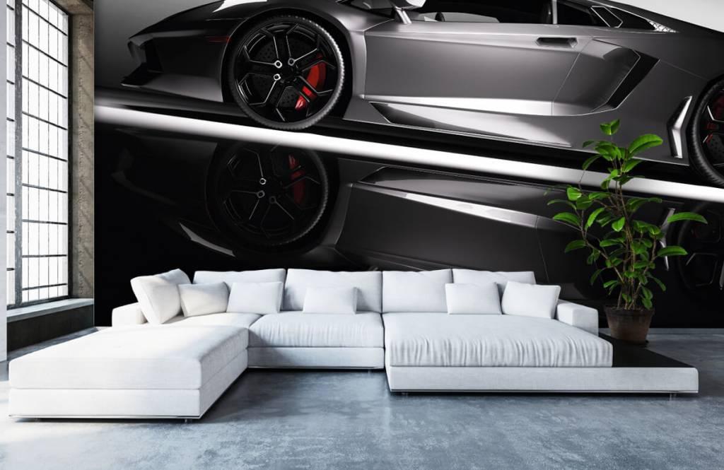 Verkehrsmittel tapete - Grauer Lamborghini - Jugendzimmer 6