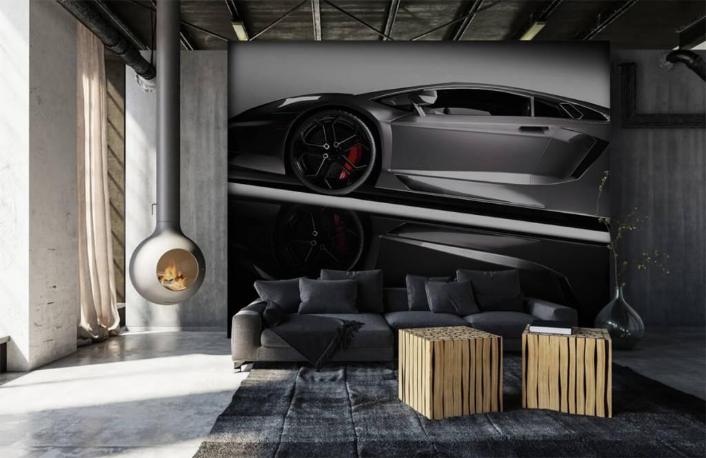 Verkehrsmittel tapete - Grauer Lamborghini - Jugendzimmer 7