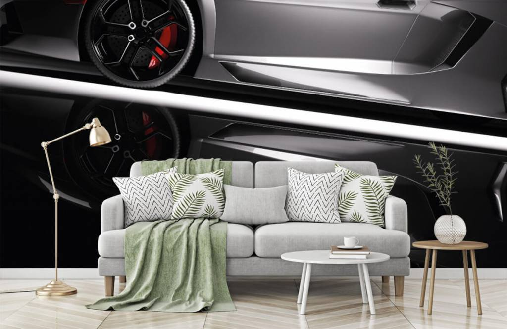 Verkehrsmittel tapete - Grauer Lamborghini - Jugendzimmer 8