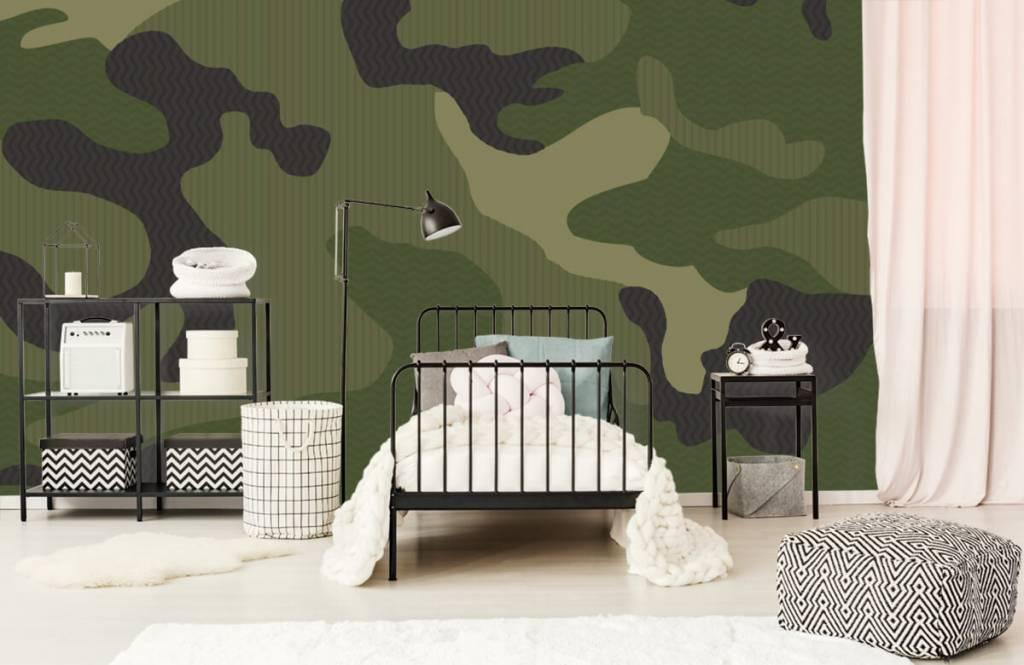 Kinder Tapete - Camouflage grün - Kinderzimmer 1