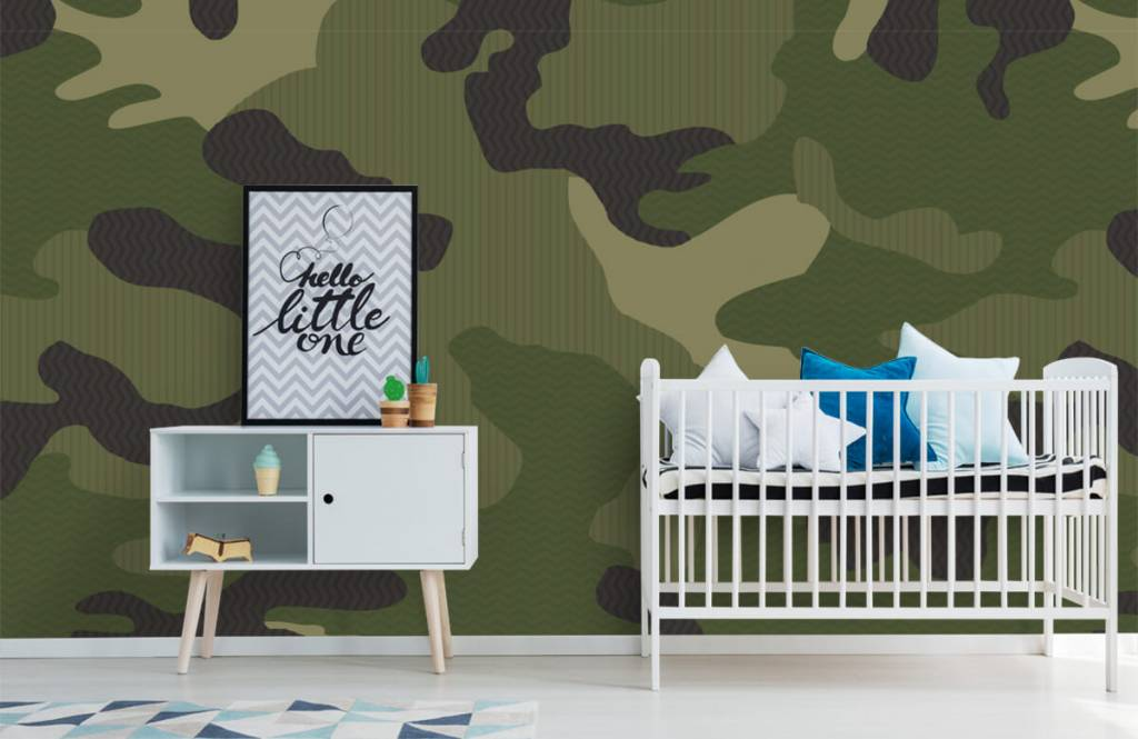 Kinder Tapete - Camouflage grün - Kinderzimmer 2