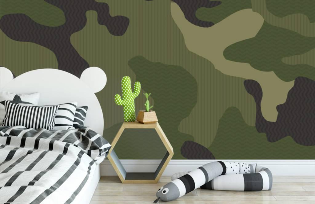 Kinder Tapete - Camouflage grün - Kinderzimmer 3