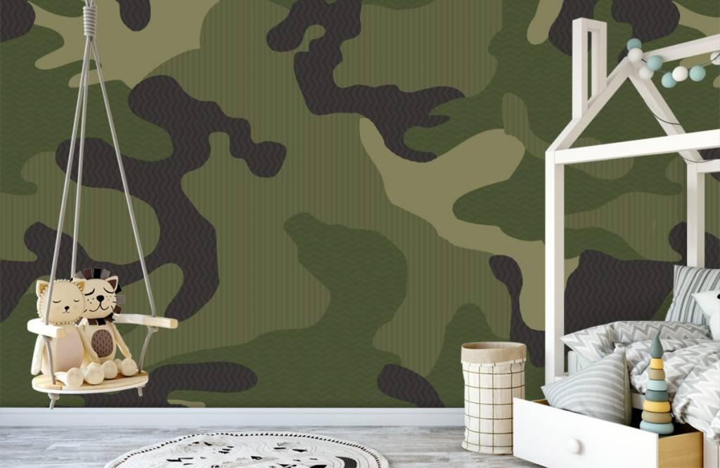 Kinder Tapete - Camouflage grün - Kinderzimmer 4