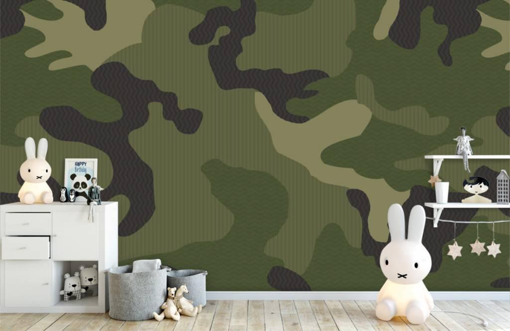Kinder Tapete - Camouflage grün - Kinderzimmer 5