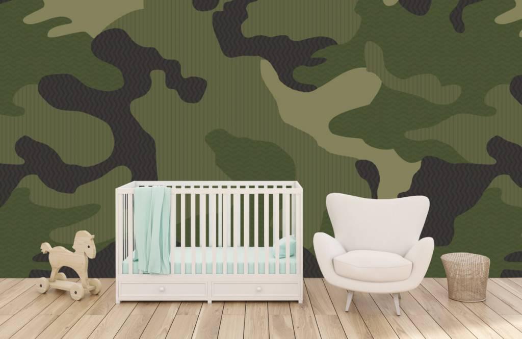 Kinder Tapete - Camouflage grün - Kinderzimmer 6