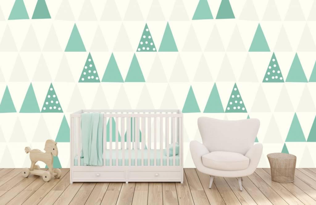 Andere - Grüne Dreiecken - Kinderzimmer 6