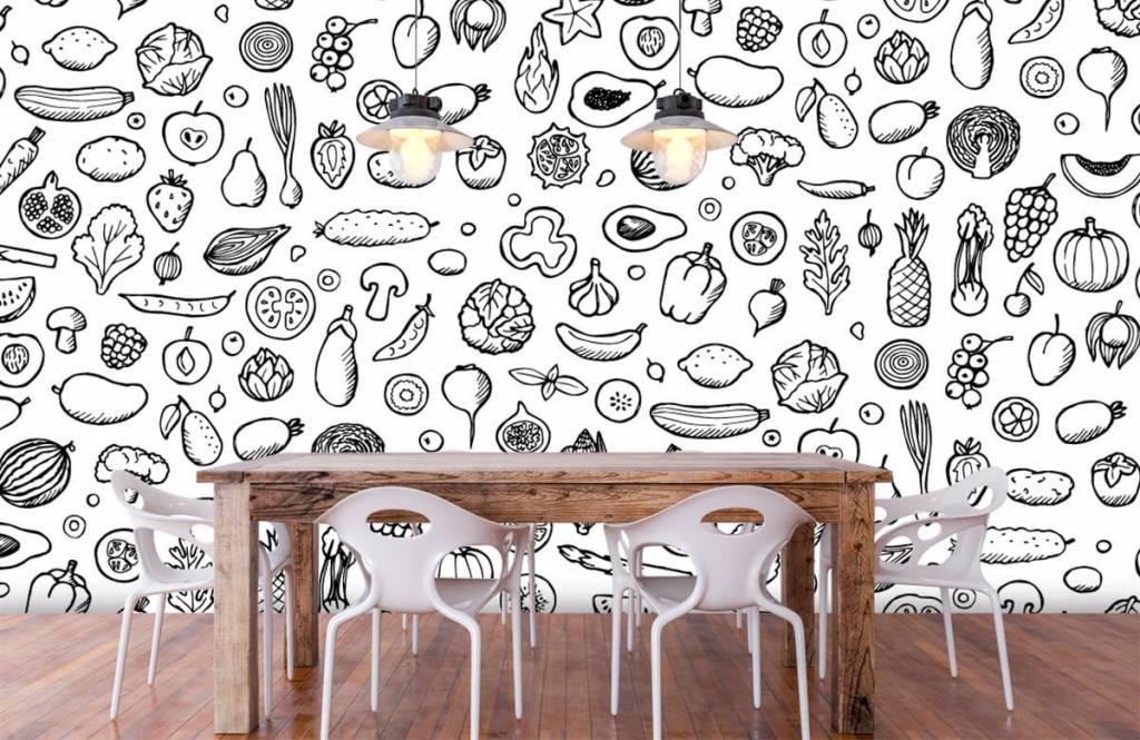 Andere - Gemüse und Obst schwarz-weiß - Küchen 6