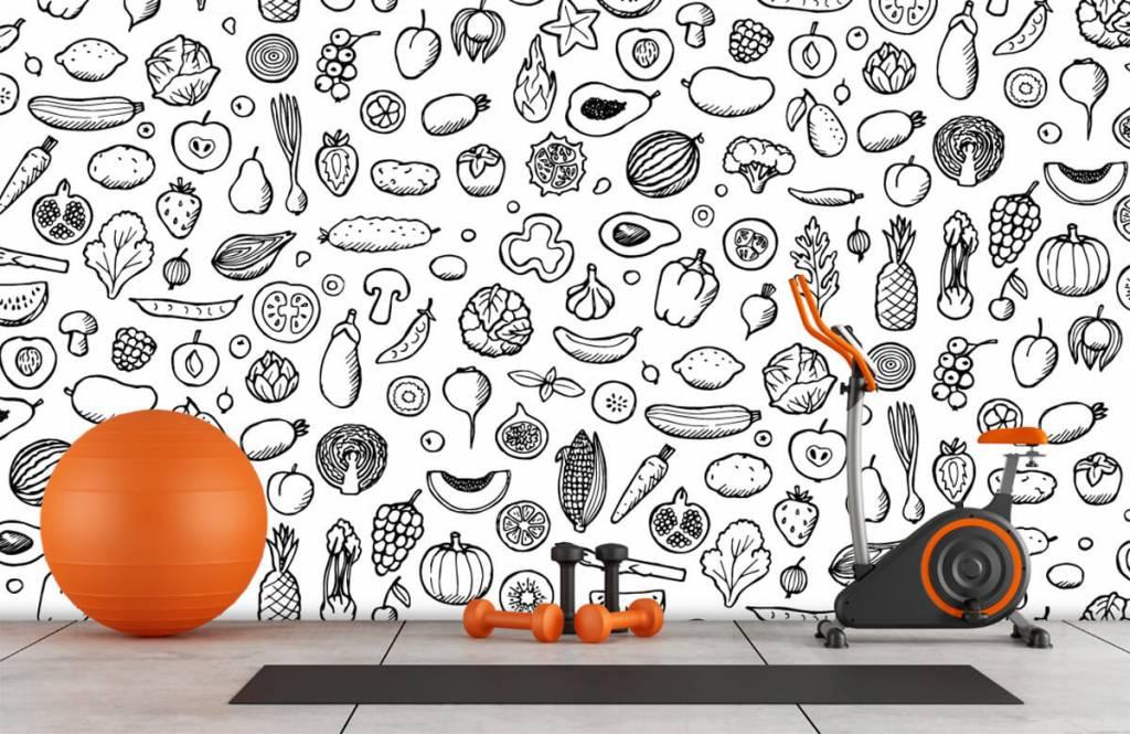 Andere - Gemüse und Obst schwarz-weiß - Küchen 8