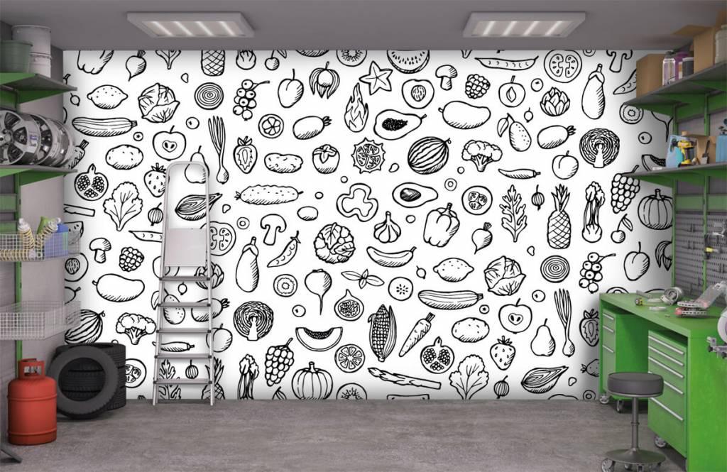 Andere - Gemüse und Obst schwarz-weiß - Küchen 9