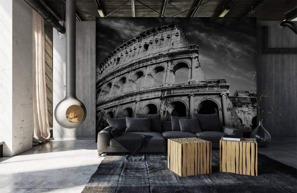 Schwarzweiß Tapete - Kolosseum - Jugendzimmer 2
