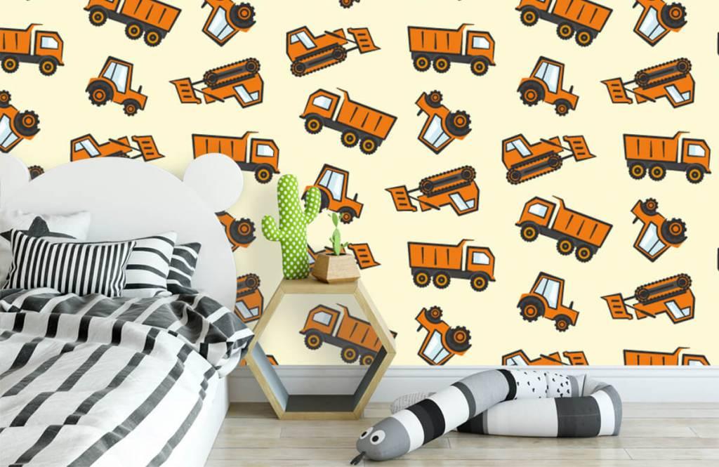 Andere - Industrietransport, orange - Kinderzimmer 1