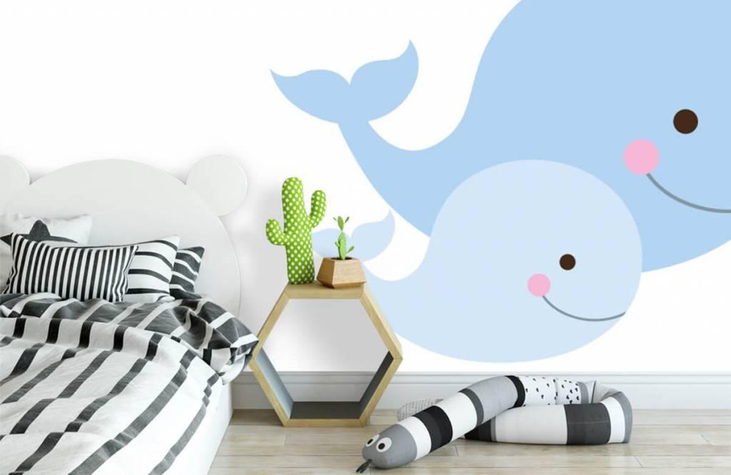 Wassertiere - Lächelnde Wale - Kinderzimmer 1