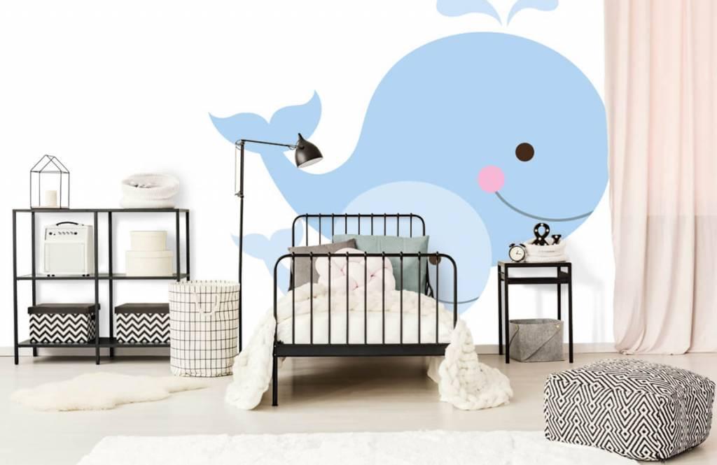 Wassertiere - Lächelnde Wale - Kinderzimmer 2