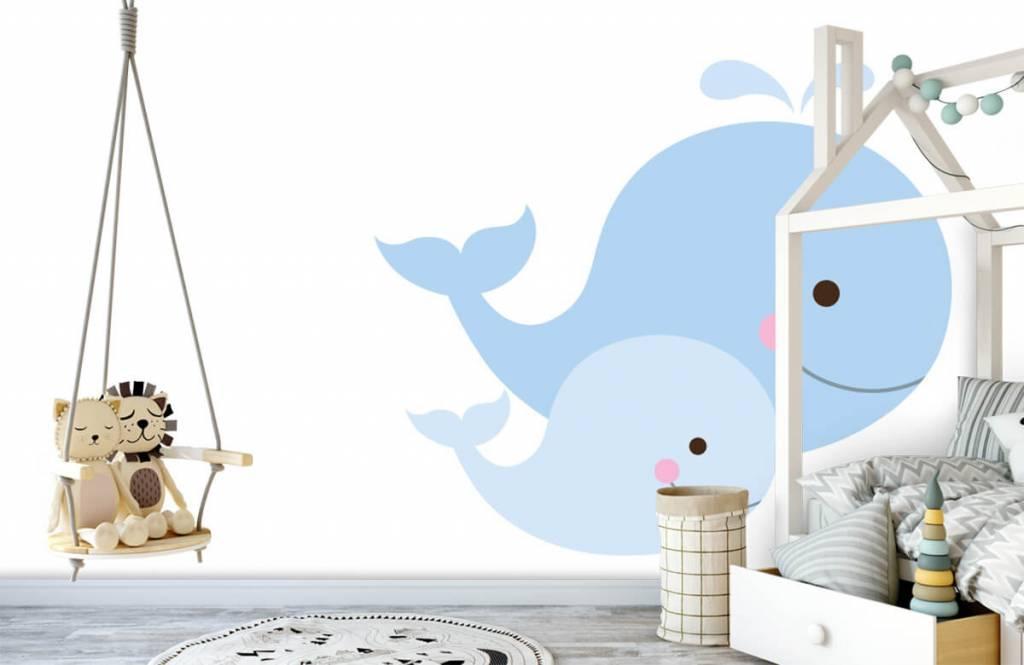 Wassertiere - Lächelnde Wale - Kinderzimmer 3