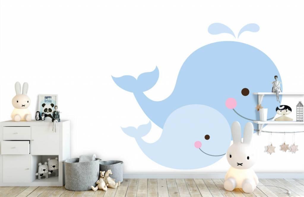 Wassertiere - Lächelnde Wale - Kinderzimmer 4