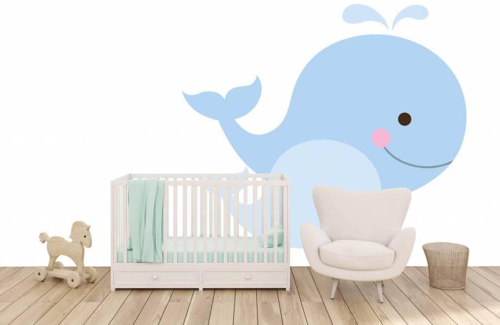 Wassertiere - Lächelnde Wale - Kinderzimmer 5