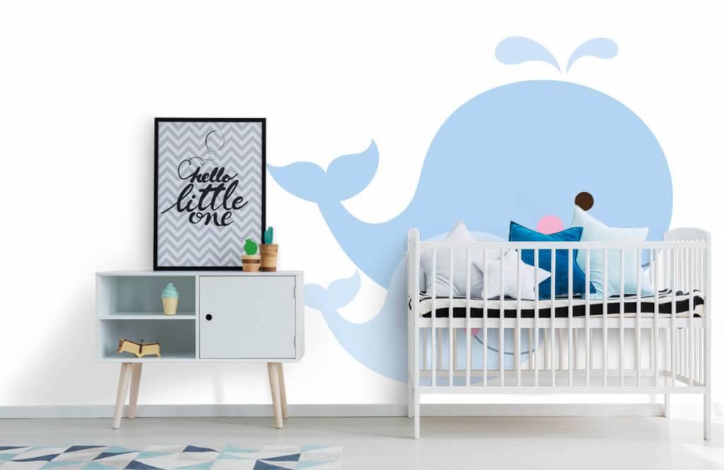 Wassertiere - Lächelnde Wale - Kinderzimmer 6