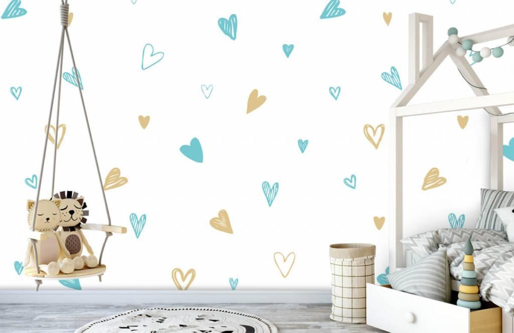 Andere - Minzfarbene und goldene Herzen - Kinderzimmer 4