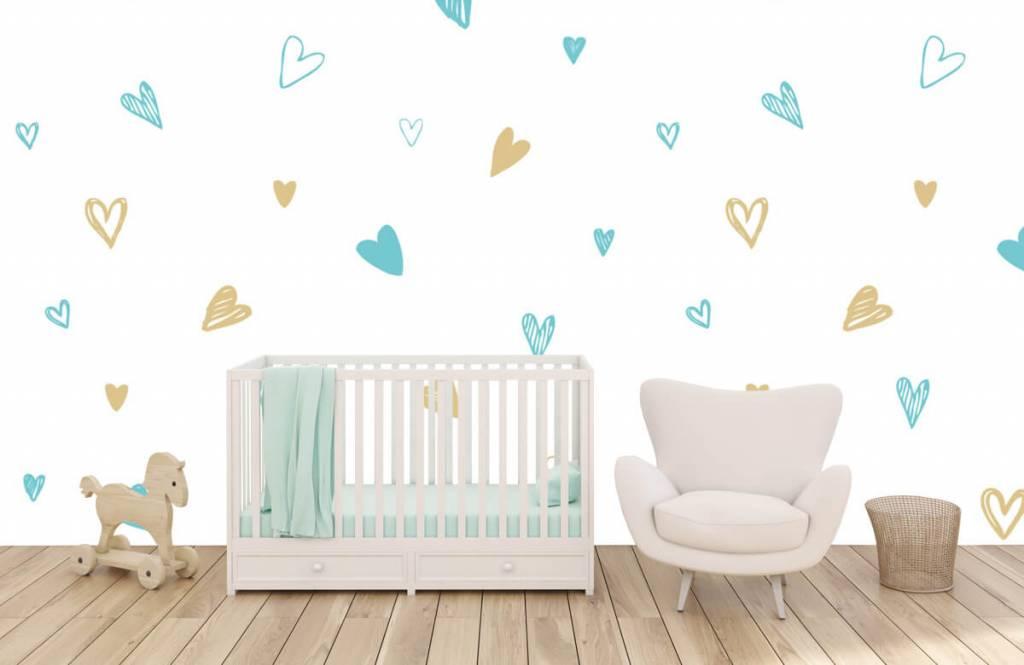 Andere - Minzfarbene und goldene Herzen - Kinderzimmer 5