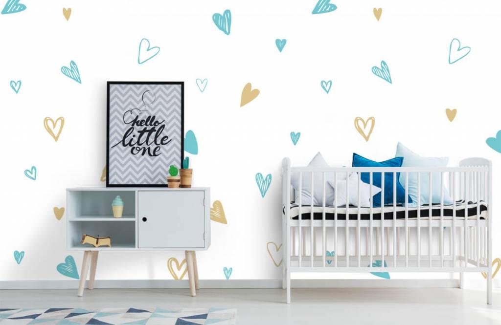 Andere - Minzfarbene und goldene Herzen - Kinderzimmer 6