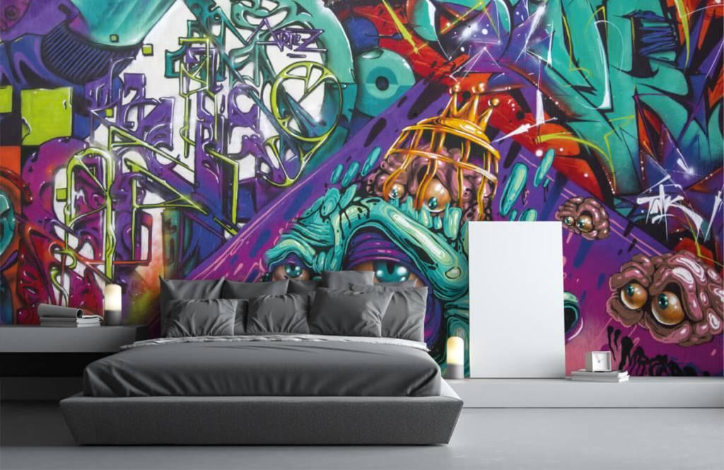 Graffiti - Tapete mit modernen Graffiti - Jugendzimmer 1