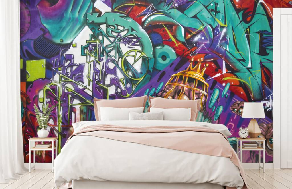 Graffiti - Tapete mit modernen Graffiti - Jugendzimmer 2