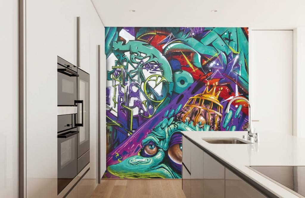 Graffiti - Tapete mit modernen Graffiti - Jugendzimmer 3
