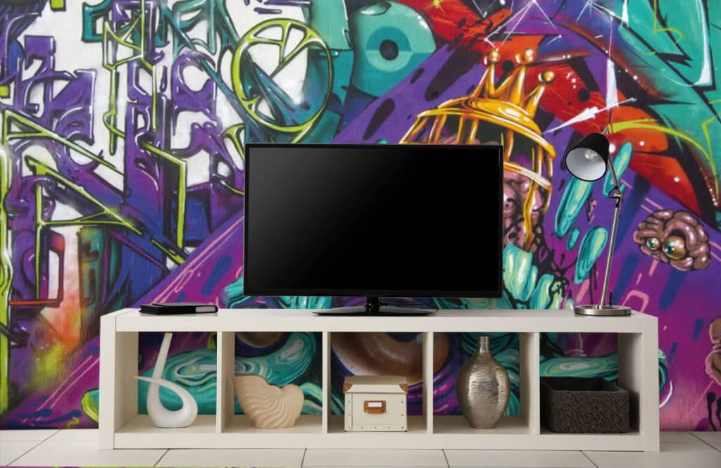Graffiti - Tapete mit modernen Graffiti - Jugendzimmer 4