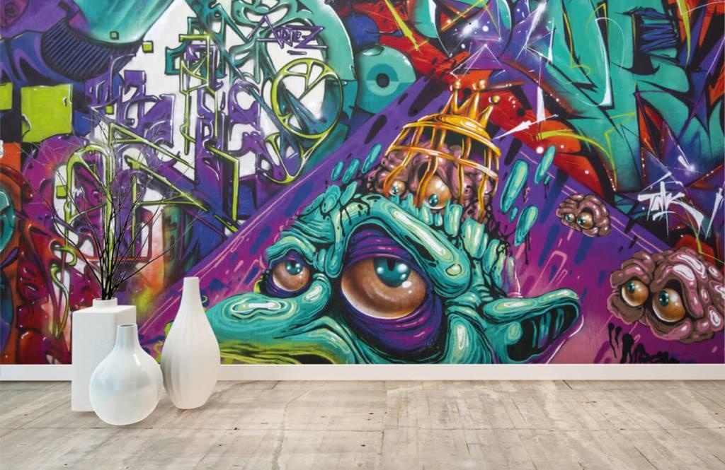 Graffiti - Tapete mit modernen Graffiti - Jugendzimmer 5