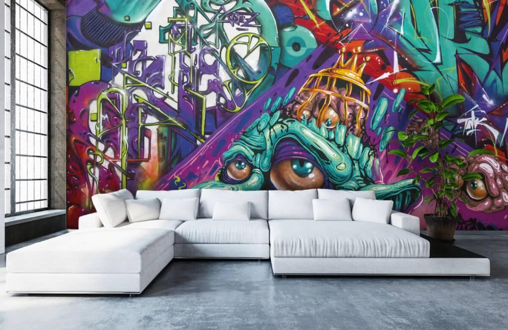 Graffiti - Tapete mit modernen Graffiti - Jugendzimmer 6