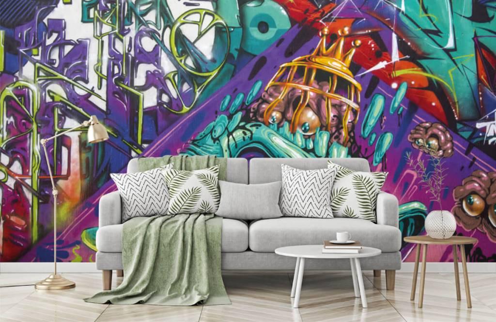 Graffiti - Tapete mit modernen Graffiti - Jugendzimmer 8