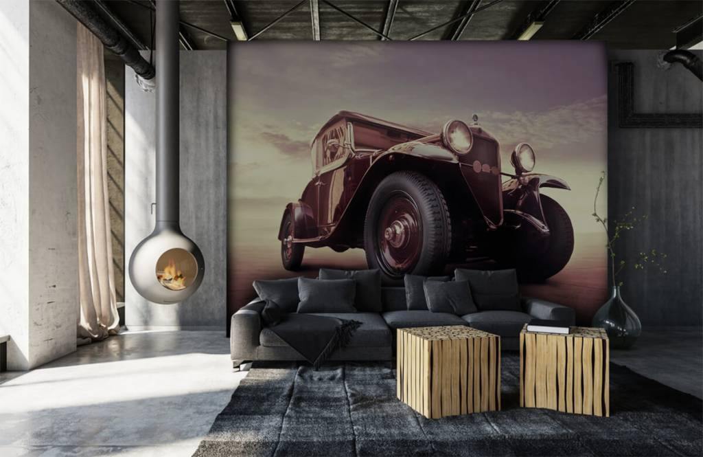 Verkehrsmittel tapete - Oldtimer-Perspektive - Jugendzimmer 1
