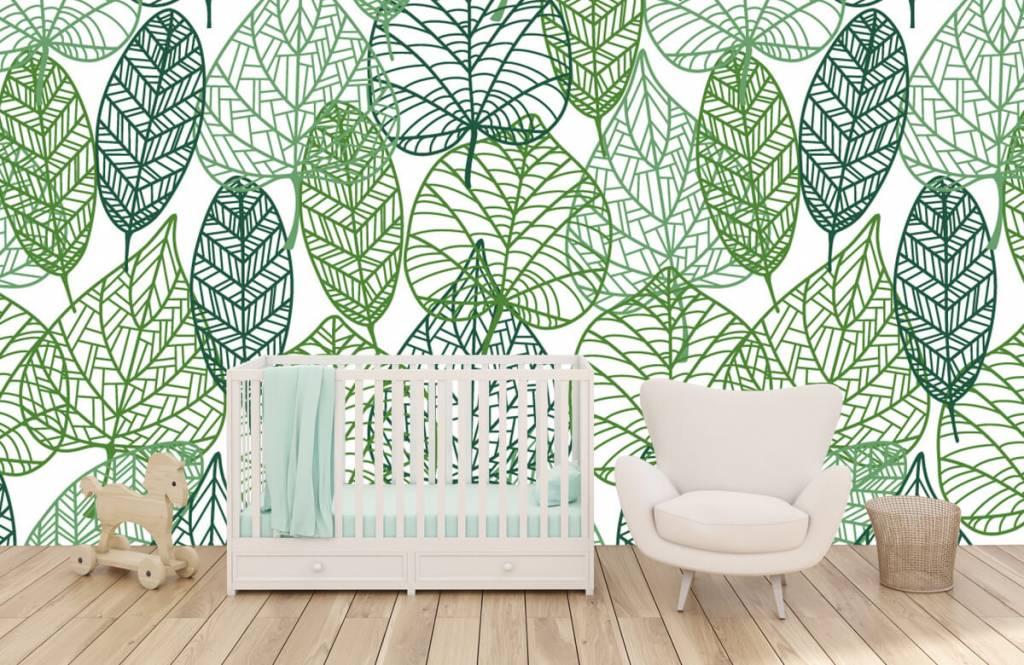 Blätter - Grüne Blätter aufgeschnitten - Hobbyzimmer 1