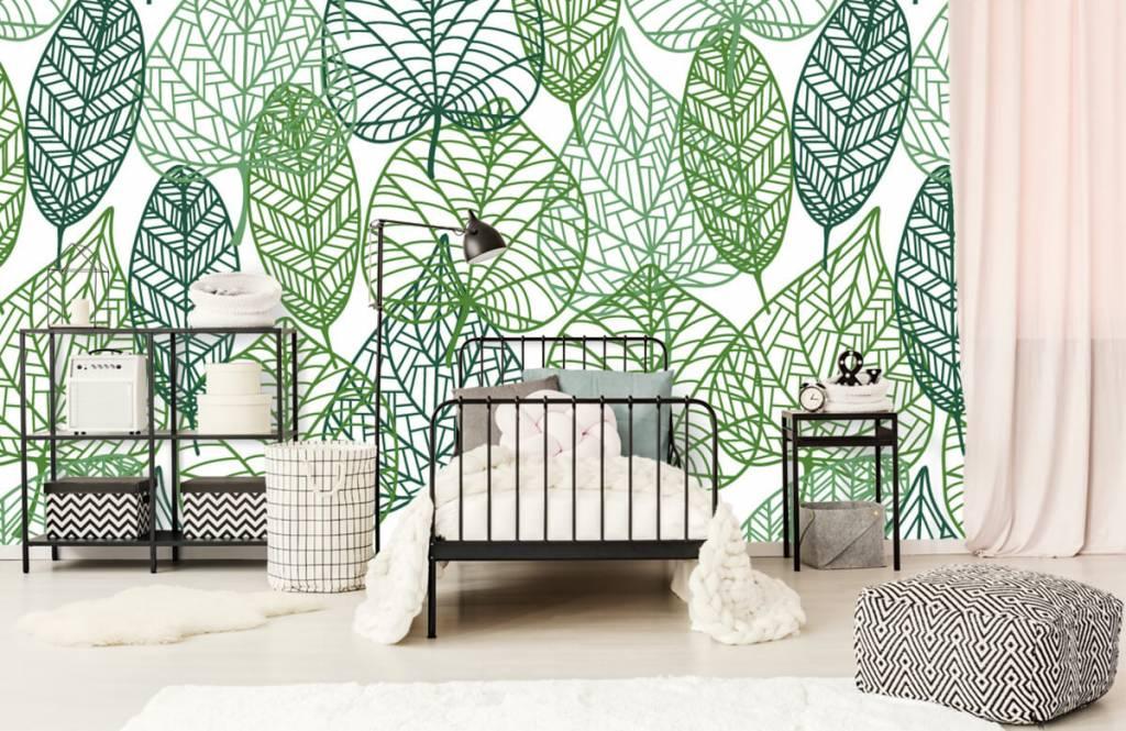 Blätter - Grüne Blätter aufgeschnitten - Hobbyzimmer 2