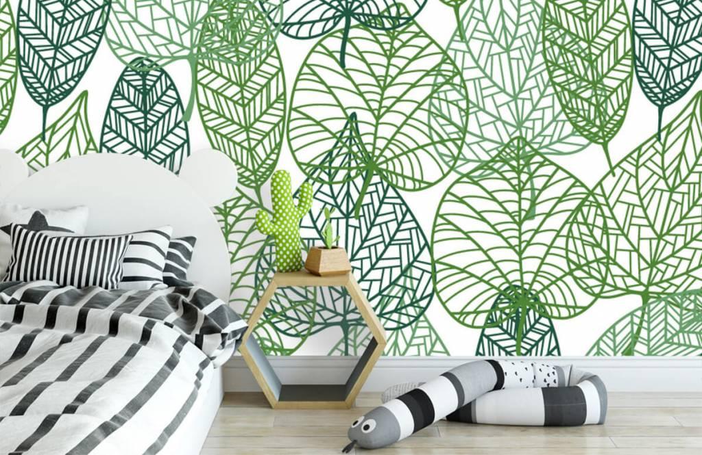 Blätter - Grüne Blätter aufgeschnitten - Hobbyzimmer 3