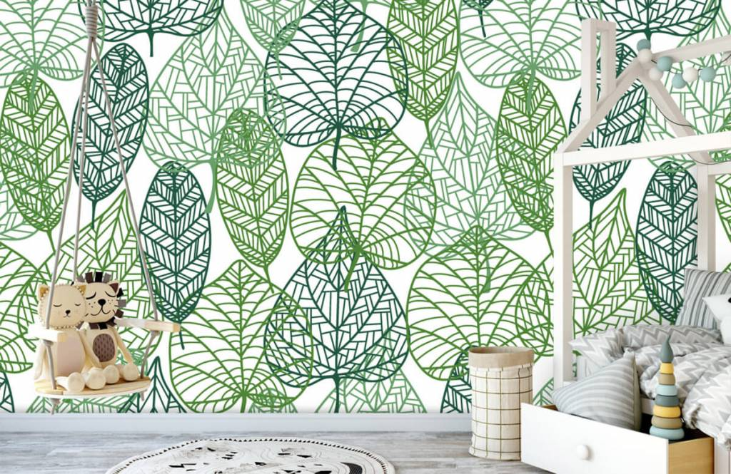 Blätter - Grüne Blätter aufgeschnitten - Hobbyzimmer 4