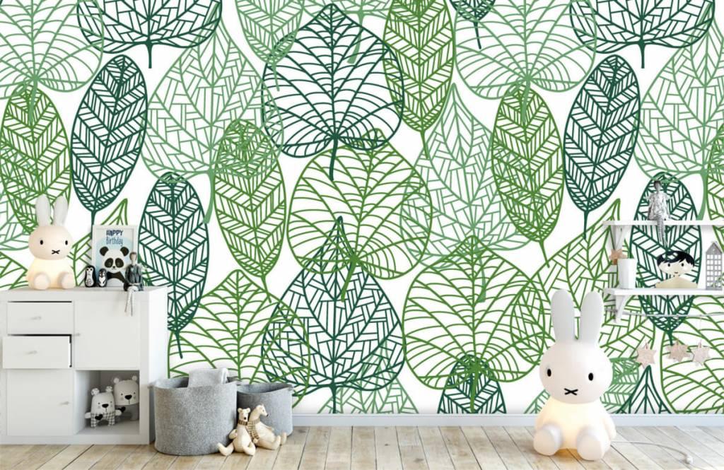Blätter - Grüne Blätter aufgeschnitten - Hobbyzimmer 5