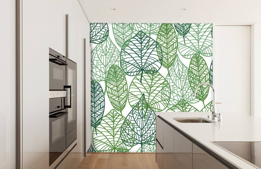 Blätter - Grüne Blätter aufgeschnitten - Hobbyzimmer 6