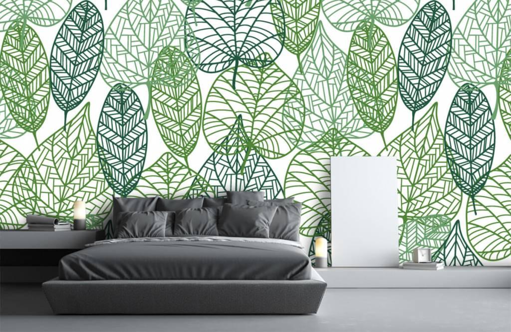 Blätter - Grüne Blätter aufgeschnitten - Hobbyzimmer 7