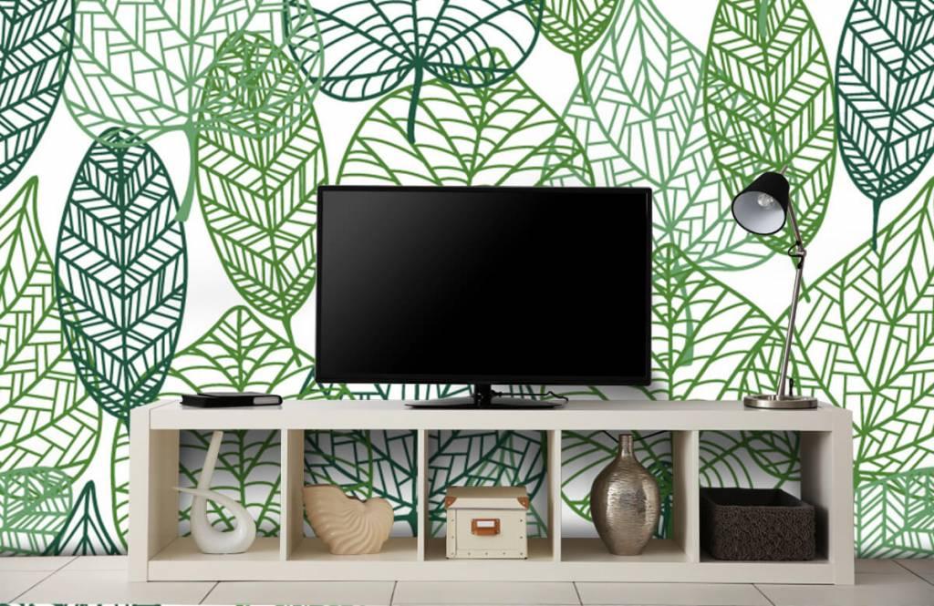 Blätter - Grüne Blätter aufgeschnitten - Hobbyzimmer 8