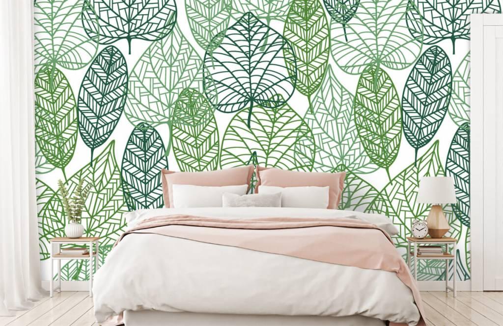 Blätter - Grüne Blätter aufgeschnitten - Hobbyzimmer 9
