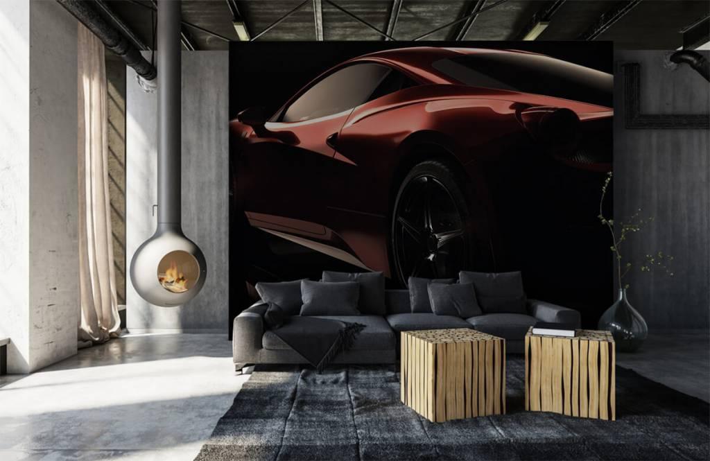 Verkehrsmittel Tapete - Rotes Sportauto - Jugendzimmer 1