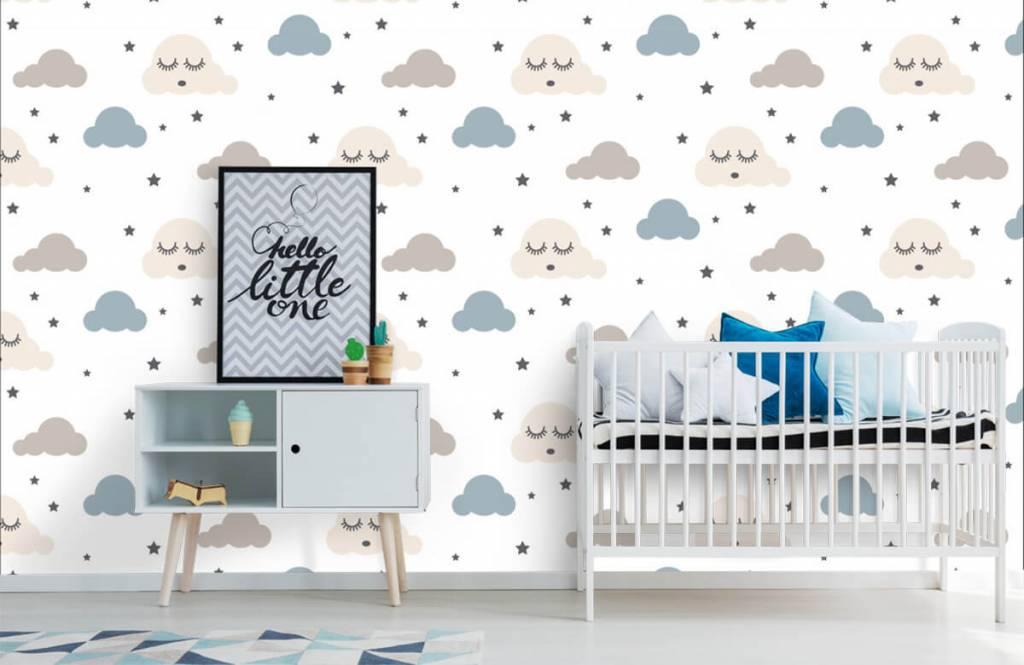 Baby Tapete - Schlafende Wolken - Babyzimmer 1