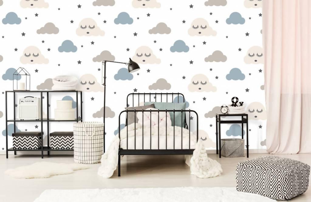 Baby Tapete - Schlafende Wolken - Babyzimmer 2