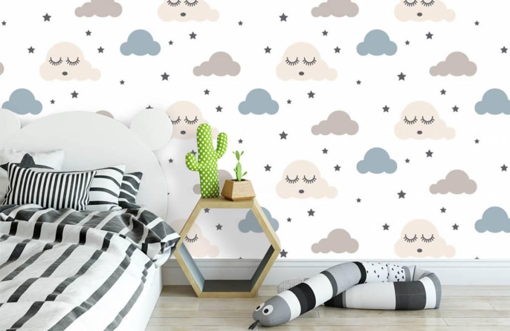 Baby Tapete - Schlafende Wolken - Babyzimmer 3