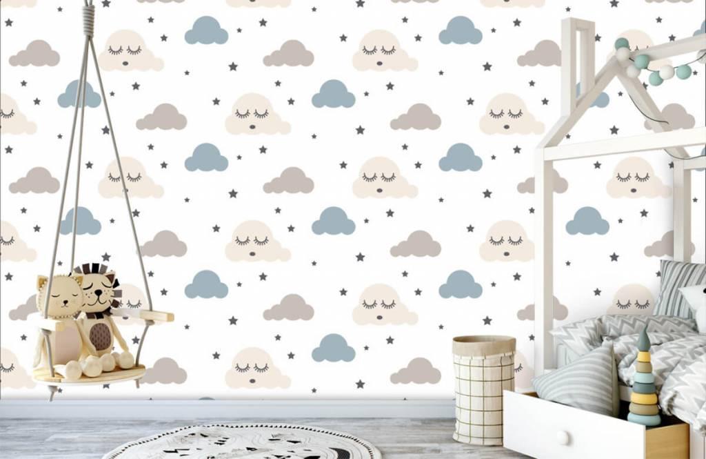 Baby Tapete - Schlafende Wolken - Babyzimmer 4
